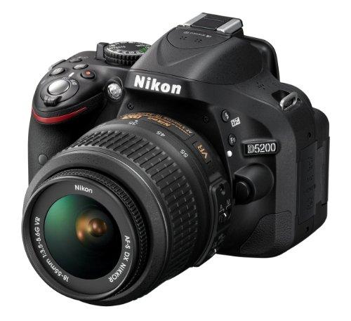 Nikon-D5200-Fotocamera-Digitale-SLR-241-Megapixel-Display-TFT-da-3-Pollici-Kit-incluso-Obiettivo-AF-S-DX-18-55-mm-VR-Versione-EU