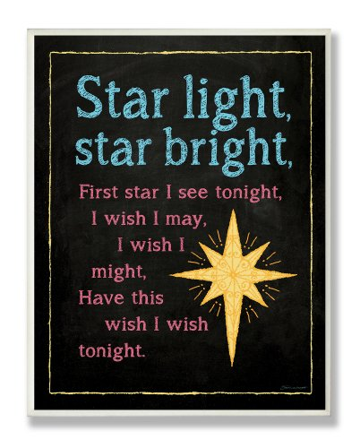 The Kids Room by Stupell Star Light, Star Bright Nursery Rhyme Rectangle Wall Plaque