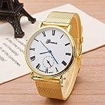 Newest Geneva Watch Fashion Women Watch Golden Strap Watch Ladies Ultra-thin Quartz Watches