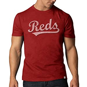 Cincinnati Reds 47 Brand Cooperstown Collection Red Vintage Scrum T-Shirt by