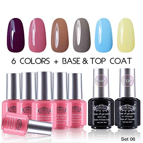 Perfect-Summer-UV-LED-Soak-Off-Gel-Nail-Polish-with-Clear-Base-Coat-and-Top-Coat-Gel-Starter-Kit-Pack-of-8-8ml-Each-set-06