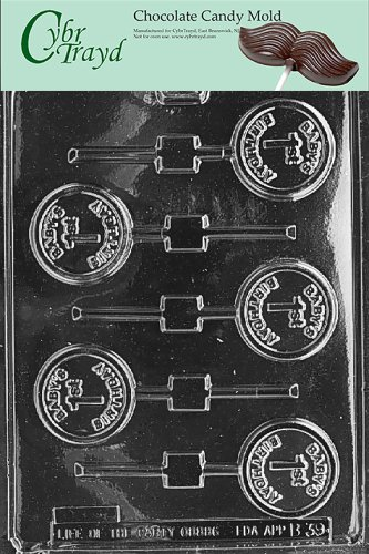 Cybrtrayd B039 Baby'S 1St Birthday Lolly Chocolate Candy Mold With Exclusive Cybrtrayd Copyrighted Chocolate Molding Instructions front-980430