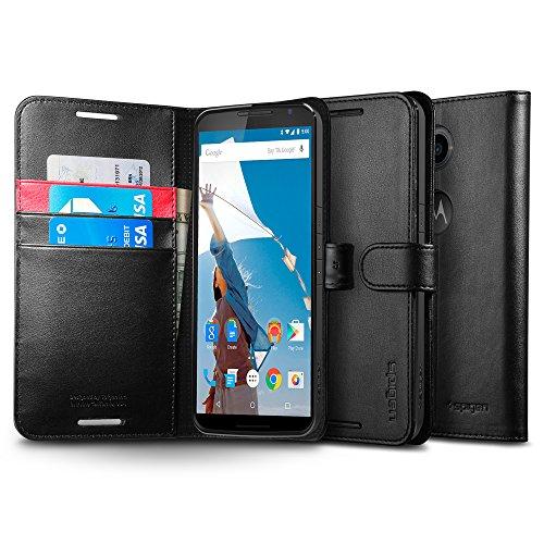 Nexus6 ケース, Spigen® [ スタンド機能] Nexus 6 Case ウォレット S レザー 手帳型 Google Nexus 6 (2014) (国内正規品) (ブラック 【SGP11247】)