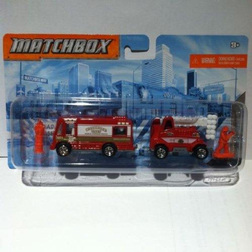 2012 Matchbox Hitch N Haul Flame Tamers