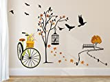 #2: Solimo Wall Sticker for Living Room(Ride through Nature,  ideal size on wall: 140 cm x 100 cm)