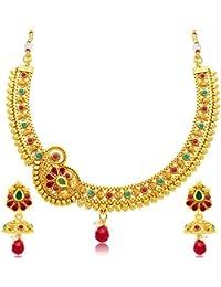 Sukkhi Splendid Gold Plated Choker Necklace Set For Women