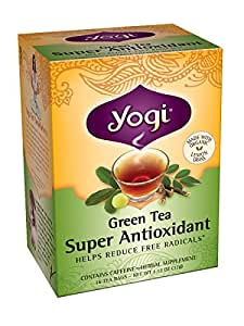 Yogi Super Antioxidant Green Tea, 16 Tea Bags (Pack of 6)