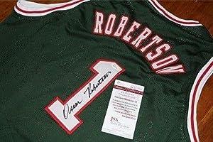 OSCAR ROBERTSON Signed MILWAUKEE BUCKS Jersey + JSA Witness COA W641390 - Autographed...
