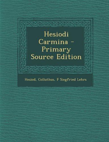 Hesiodi Carmina