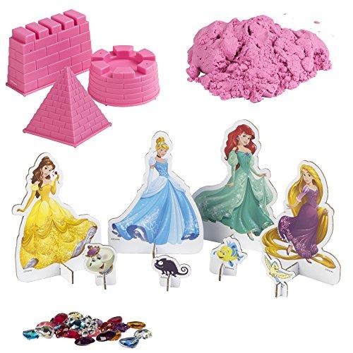 ColorBaby - Arena mágica princesas de disney, 3 moldes rosa (76744)