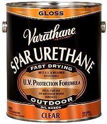 Rust-Oleum VARATHANE Oil-Based Spar Urethane for Exterior Furniture & Wood Polish, 3.78 Liters, GLOSS Finish