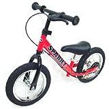 【組立済】【4色から選べる】 ブレーキ付 ペダルなし自転車 キッズバイク SPARKY (RED)
