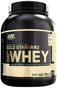 Optimum Nutrition 100% Whey Gold Standard Natural Whey, Vanilla, 4.8 Pound