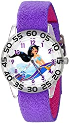 Disney Kids' W002377 Princess Jasmine Time Teacher Watch with Purple Band