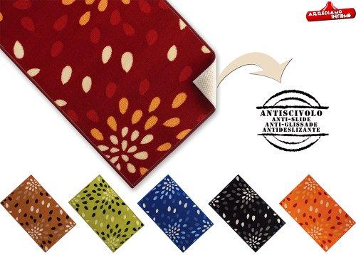 Tappeto MULTIUSO CASA CUCINA varie misure passatoia bordata ANTISCIVOLO tappeti corsia MADE IN ITALY (BLU, 240 Centimetri)