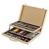 ArtEcolor Portable Art Set - 108 piece Kid's wood coloring Case