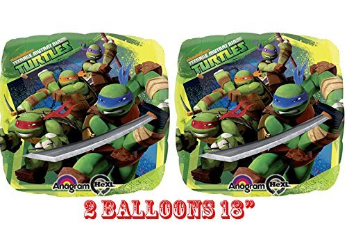 """Ninja Turtles Foil Balloons 18"""" (2 Balloons)"""