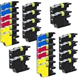 Set of 24 pack LC75 High Yield Compatible Ink Cartridge Combo 12xBk, 4xC, 4xM & 4xY
