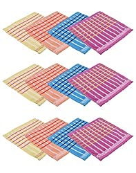 Gumber Pack of 12 Multicolor Striped Handkerchiefs (GE_RL_TL_132_1_12PC)
