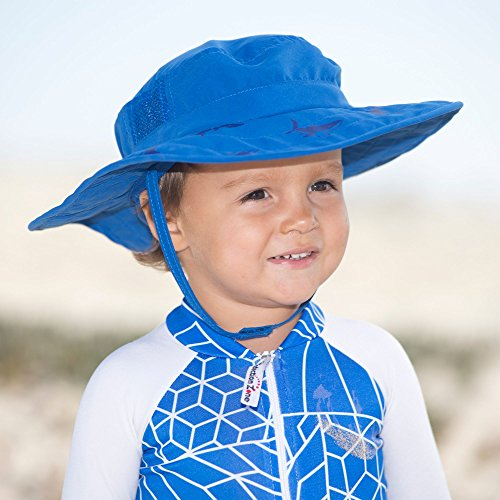 Sun Protection Zone Kids Upf Safari Hat Blue