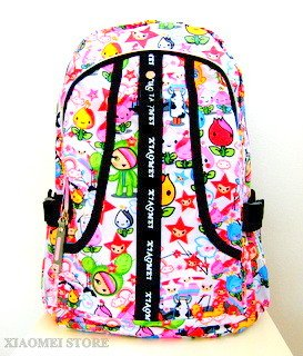 XIAOMEI Colourful Cartoon A4 Backpack 8130C for Travel, Holiday, School or College