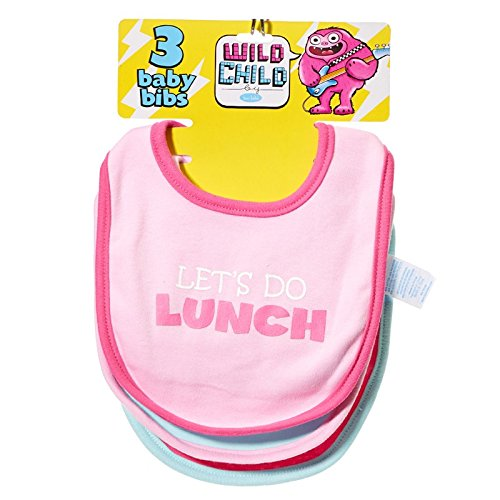 Lets Do Lunch! 3 pack of bibs by Wild Child