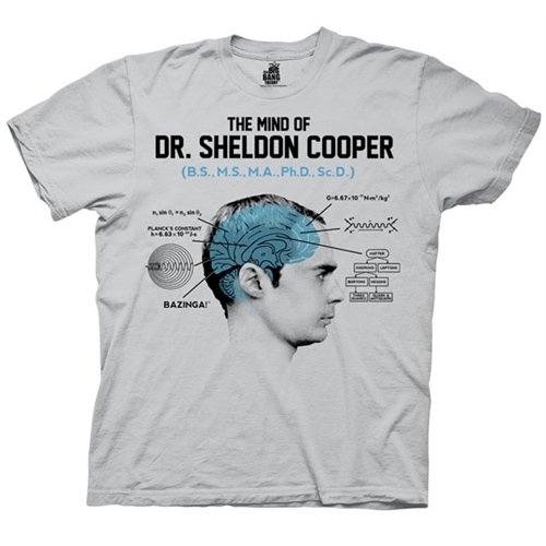Big Bang Theory The Mind of Dr. Sheldon Cooper T-Shirt
