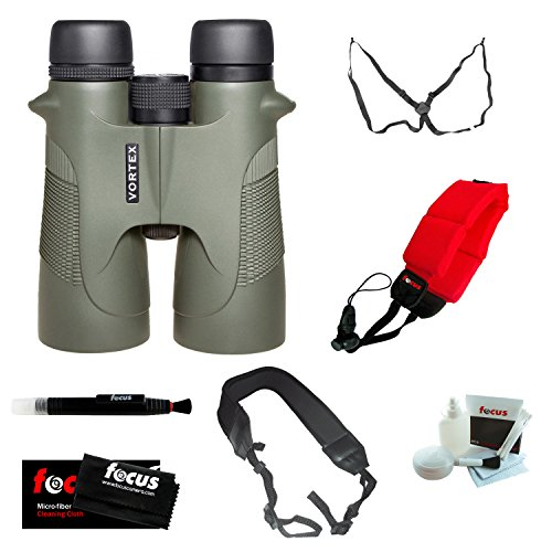 Vortex Optics D5012 Diamondback 12X50 Binoculars With Three Straps And Deluxe Accessory Bundle
