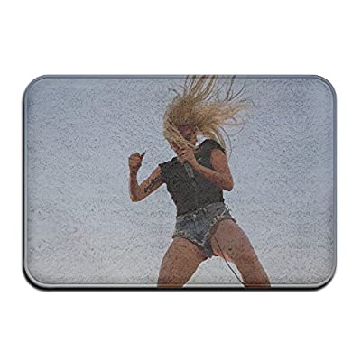 Lady Gaga Perfect Illusion Doormat Outdoor 15''x24'' Rectangular Absorbent Non-slip Floor Mats Polyester Rugs For Home/Office/Bedroom