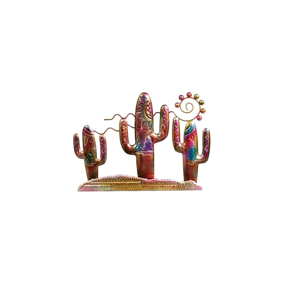 Cactus Metal Art Wall Hanging