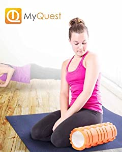 MyQuest - The Foam Roller, Foam Roller, Muscle Roller, Trigger Point Foam Roller, Foam Rollers Physical Therapy, Back Foam Roller. Have A Sore Back, Neck And/Or IT Bands? This Muscle Foam Roller Is Excellent As A Back Foam Roller And An IT Band Foam Rolle