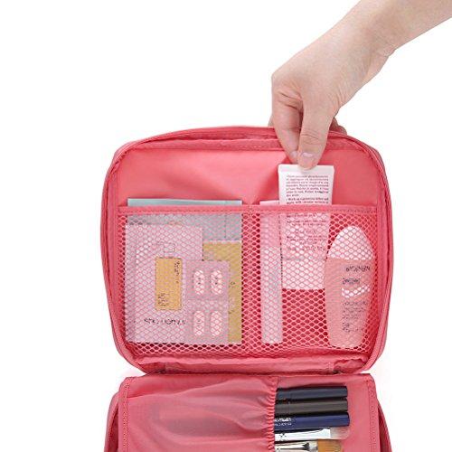 Contever® moda Donna Borsa da Viaggio Sacchetto della lavata Pacchetto multifunzionale bagagli Trucco Cosmetici Organizer Tasca -- Rosa