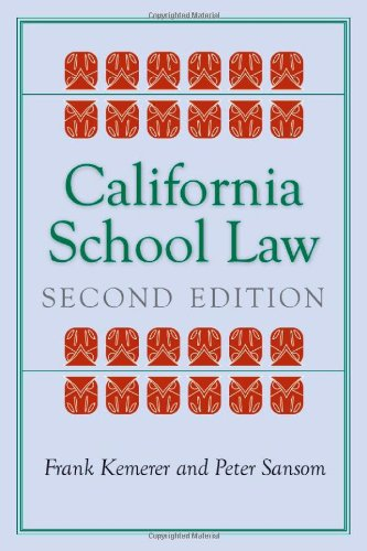 California School Law: Second Edition (Stanford Law Books)