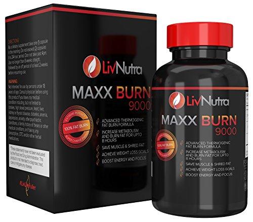 Liv Nutra - les brûleurs de graisse du perte de poids thermogénique meilleur Fat Burner pour femmes et hommes 100 % Fat Burning pilules pour poids perte appétit coupe-faim Energy Boost et Hyper métaboliseur, comte 60