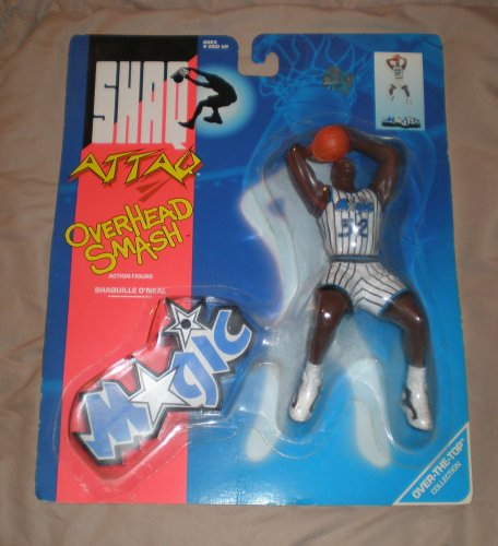 1993 Shaquille O'neal Shaq Attack NBA Overhead Smash Action Figure - 1