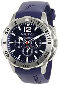 Nautica Men's N16565G BFD 101 Navy Resin and Blue Dial Watch