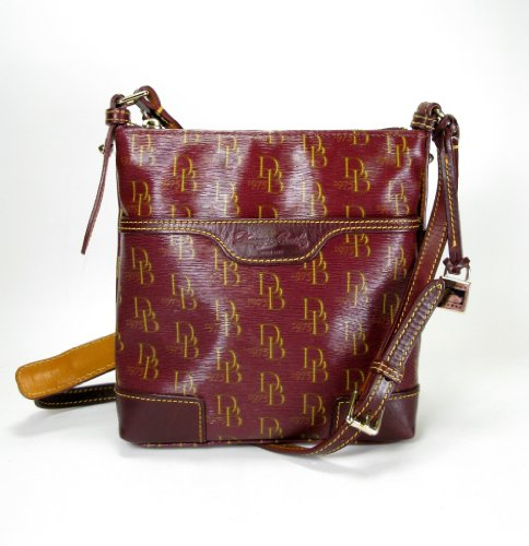 Dooney & Bourke Letter Carrier Messenger Bag (Bordeaux)