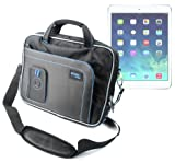 DURAGADGET Black & Blue Shoulder Bag For Apple iPad Air Wi-Fi / Wi-Fi + Cellular Space Grey Silver 16Gb 32Gb 64Gb 128GB (November 2013 Release), iPad Mini / Cellular, iPad (3rd / 4th Gen) / Cellular & iPad 2