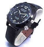 Axvalue HD高画質 水深100M防水 新型720Pレンズ 高級防水腕時計型 フルハイビジョンビデオ&カメラ 高解像度4032×3024 4GB内蔵 ハイスペックモデル / Axvalue