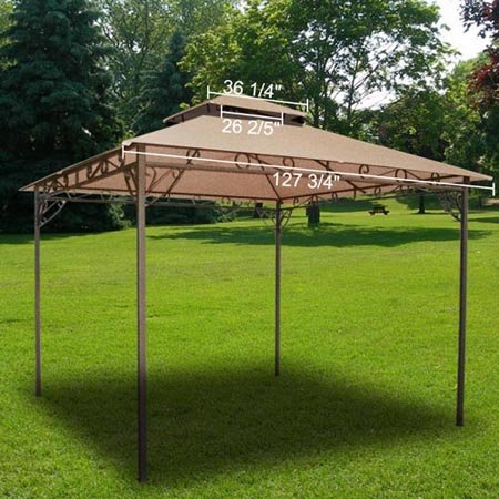 all weather heavy duty 2 tier patio sun shade 10x10 ft. Black Bedroom Furniture Sets. Home Design Ideas
