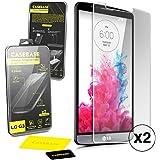 CaseBase Pack de deux Premium Protections d'écran en Verre Trempé pour LG G3