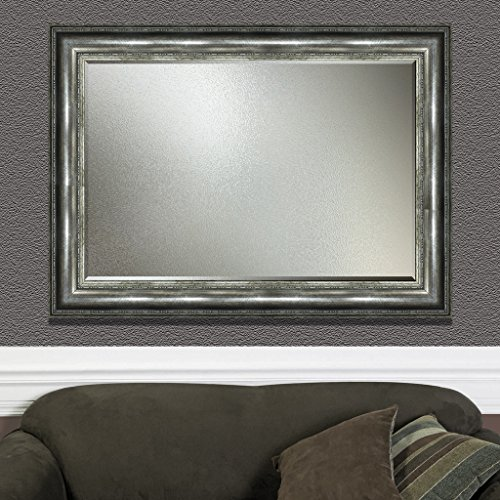 Elegant Arts & Frames Antique Silver Wall Decorative Wood Mirror 36 inch x 24 inch