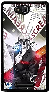 PrintVisa Boy Cool Skull Case Cover for Sony Xperia C