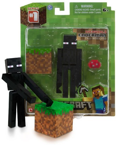 """Overworld Endermen ~3.75"""" Minecraft Mini Fully Articulated Action Figure Pack"""