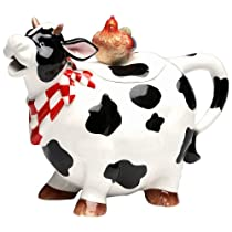 Appletree Design Barn Yard Cow Teapot 6 3/4-Inch