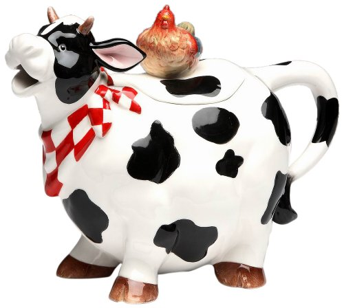 Appletree Design Barn Yard Cow Teapot, 6 3/4-Inch (Novelty Teapots compare prices)