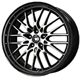 Konig Lace Black Wheel with Machined Face (17x7/5x100mm)