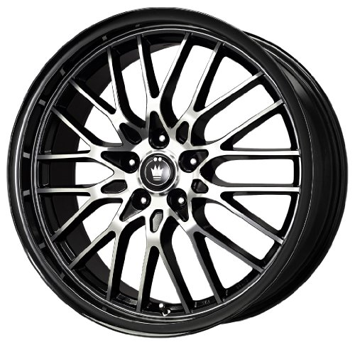 51NiVEl54mL Konig Lace Black Wheel with Machined Face (17x7/5x110mm)