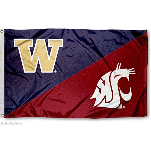 Washington State vs. UW House Divided 3x5 Flag (House Divided compare prices)