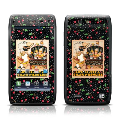 Chair Of Bowlies Design Protective Skin Decal Sticker For Motorola Droid 4 Cell Phone front-939729